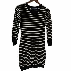 FRENCH CONNECTION Striped Sweater Dress Fi…